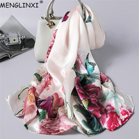 Natural Silk Scarf Spring Shawl Pure Silk Scarf Hand rolled Edges 100% Silk Scarf Women Luxury Fashion Scarves