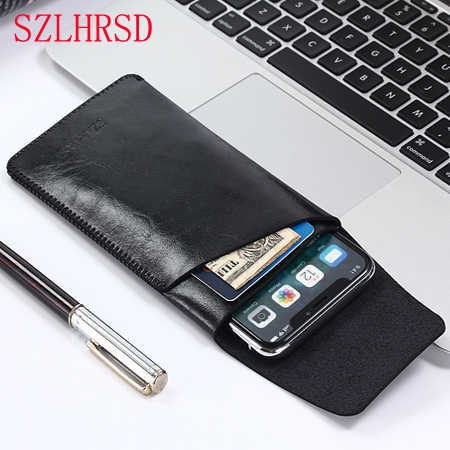 SZLHRSD voor Samsung Galaxy Note 9 slim sleeve pouch cover, telefoon tas A9 Star Lite A8 A6 Plus A3 2016 2017 A5 A7 S6 S7 On8 2018