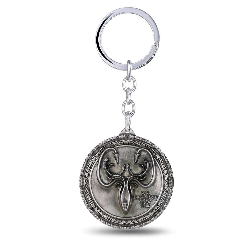 MS JEWELS Game of Thrones Key Chain House Greyjoy Logo Alloy Key Rings For Gifts Chaveiro Keychains