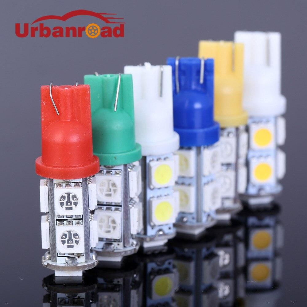 2pcs T10 9 SMD 5050 194 168 192 W5W 9 LEDs Light Auto LED Bulbs Lamp Wedge Interior Light R/G/B/Y/W