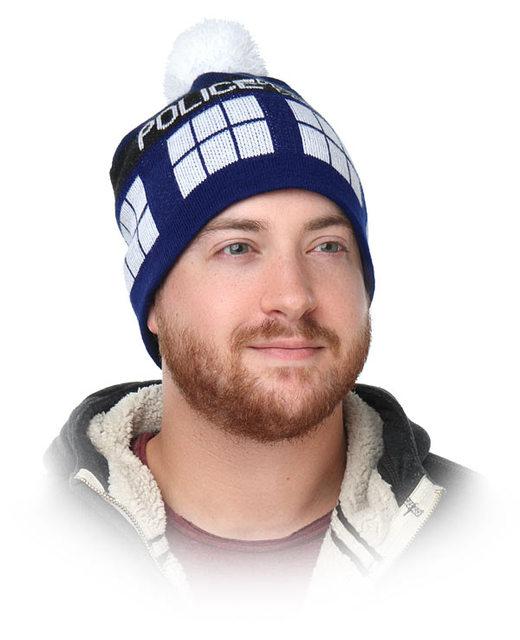 Tassel Doctor Who Police Box Warm Hat