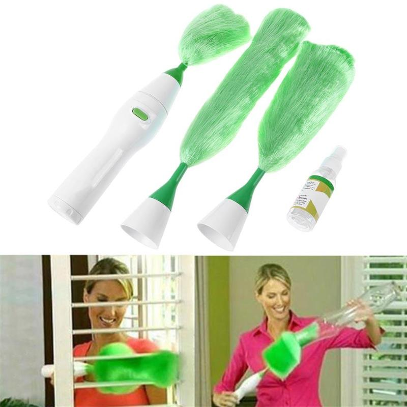 1 conjunto de escova de poeira ajustável multifuncional elétrica pena espanador poeira escova de limpeza para a senhora poeira limpeza ajudante ferramenta
