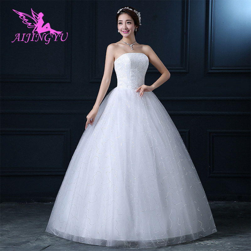 AIJINGYU 2018 Gowns Free Shipping New Hot Selling Cheap Ball Gown Lace Up Back Formal Bride Dresses Wedding Dress FU228