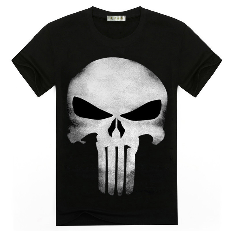 2019 New Hot 3D Printing Punisher Skull T-shirt Men's Summer Fashion Short-sleeved Shirt T-shirt Tops And T-shirts