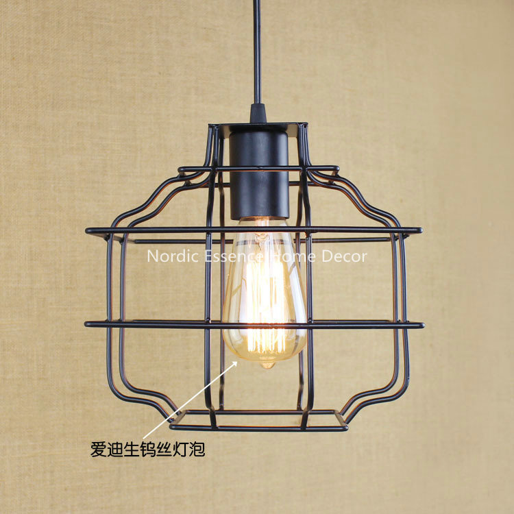 American creative retro modern Indonesia Malaysia External Trade Nordic rural single-head LOFT pendant lamp wall sconce light