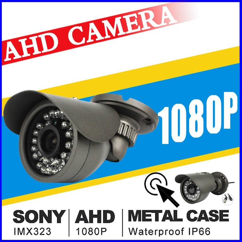 Real completo Mini cámara CCTV AHD 720 p/960 P/1080 p IMX323 HD Digital 2.0MP IR-CUT impermeable IP66 al aire libre 36led infrarrojos vidicón