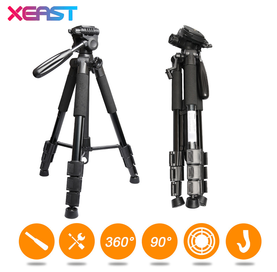 XEAST Multi function Travel Camera Tripod 56 143cm Adjustable Laser Level Tripod with 3 Way Swivel