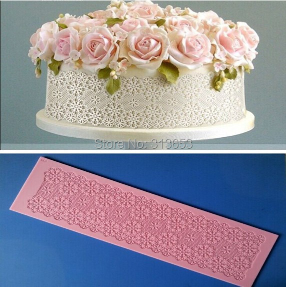 Silicone Lace Mats For Cake Decorating