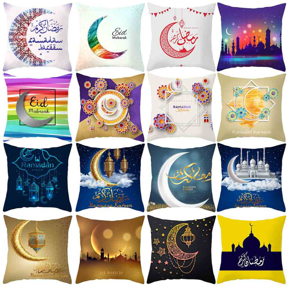 Confident Muslim Ramadan Pattern Polyester Cushion Cover Pillow Case Home Decor Cusion Pillow Case Home Decor Gift Pillowcase Cover Kaneem Preventing Hairs From Graying And Helpful To Retain Complexion Pillows Decorative Pillows
