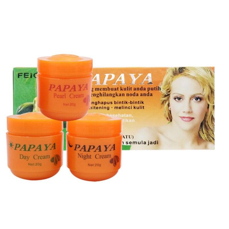 Creams-Set Essence Lightening Moisturizing Papaya Freckles Face 3pcs Dilute