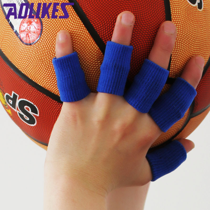 Reiz 1 Pcs Basketball Volleyball Sports Finger Armfuls Knitted Finger Joints Slip Elastic Fingerstall Caps Protective Pad Black Sports & Entertainment Sports Accessories