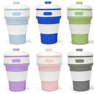 Folding Silicone Coffee Cup Travel Portable Collapsible Tea