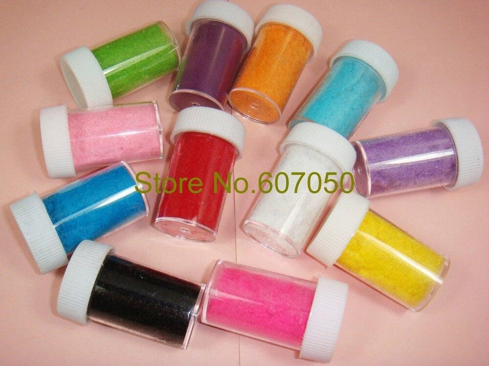 frascos ud colores aleatorios x d estrenar flocado velvet polvo de decoracin de uas de arte y otras artesanas brillo
