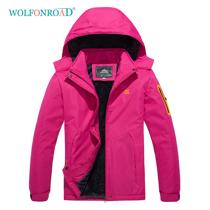 wolfonroad women 2 piece jackets waterproof outdoor sport thermal jacket coat winter hiking camping windbreaker mountain jackets WOLFONROAD Outdoor Women's Thermal Jacket Hiking Camping Waterproof Jackets Winter Climbing Coat Women 4XL Pink Jacket L-XMCK-14