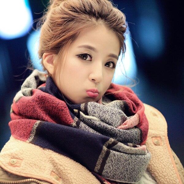 Осень/Зима 2018 г. новый стиль клетчатый шарф утолщенной теплые кашемировые платки и шарфы зима Для женщин шарф 150*20 см Skyour Ksyoocur ...