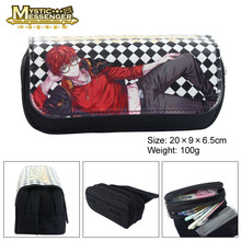 Mystic Messenger Anime Purpose Cosmetic Bags Cases Stationery bags Zipper Student Pencil Case Bag Office School