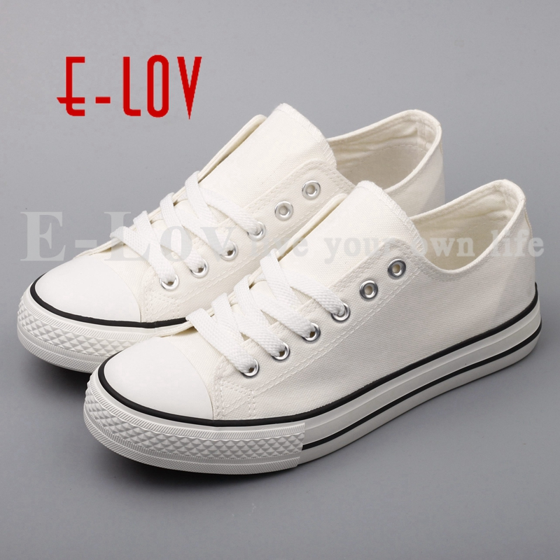 E-LOV Brand Customzied Your Own Canvas Shoes Graffiti Valentine Day's Couples Shoes Low-top Style Lace-up Espadrilles e lov unique design taurus horoscope luminous canvas shoes women diy graffiti couples lovers casual flats zapatillas mujer