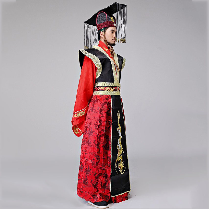 Male Hanfu CostumeThe Qin Dynasty Emperor Hanfu For TV Play The Imperial Red Gorgeous Gown