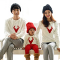 2017 Cotton T-shirt Christmas Deer mother Mommy and Me Daughter Father Baby Clothes Matching Family Clothing Sets Family Look