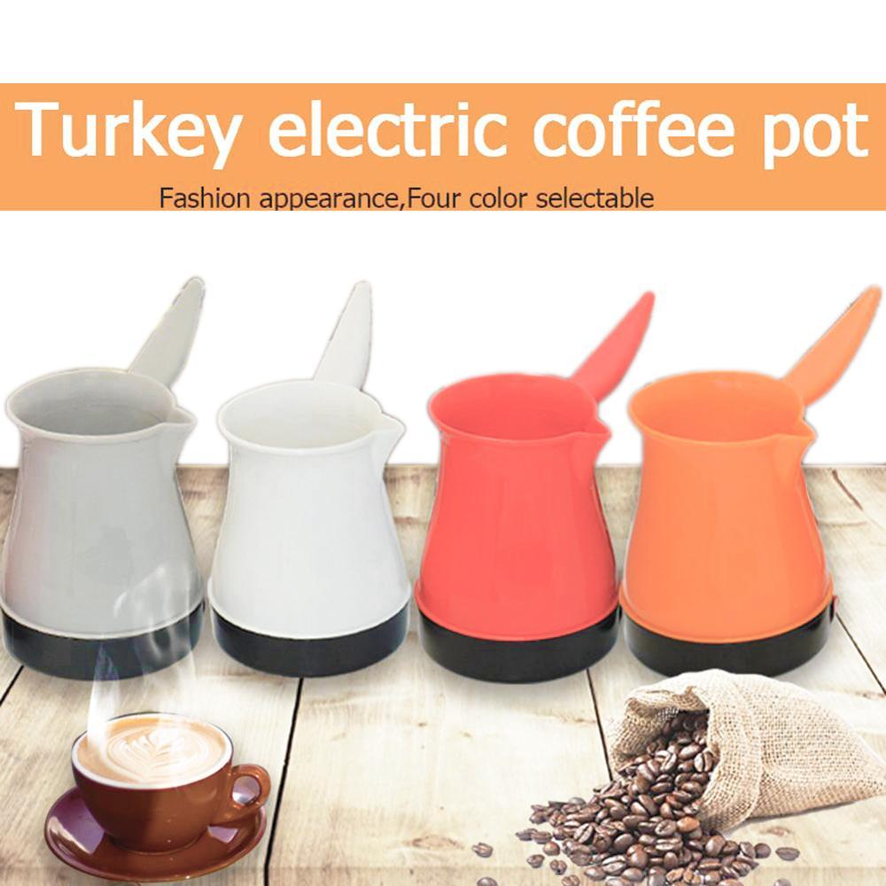 1PC 500W Electric Turkish Coffee Pot Stainless Steel Water Kettle Turkish Coffee Maker Pots Cup Mocha Coffee Pot Tools EU Plug