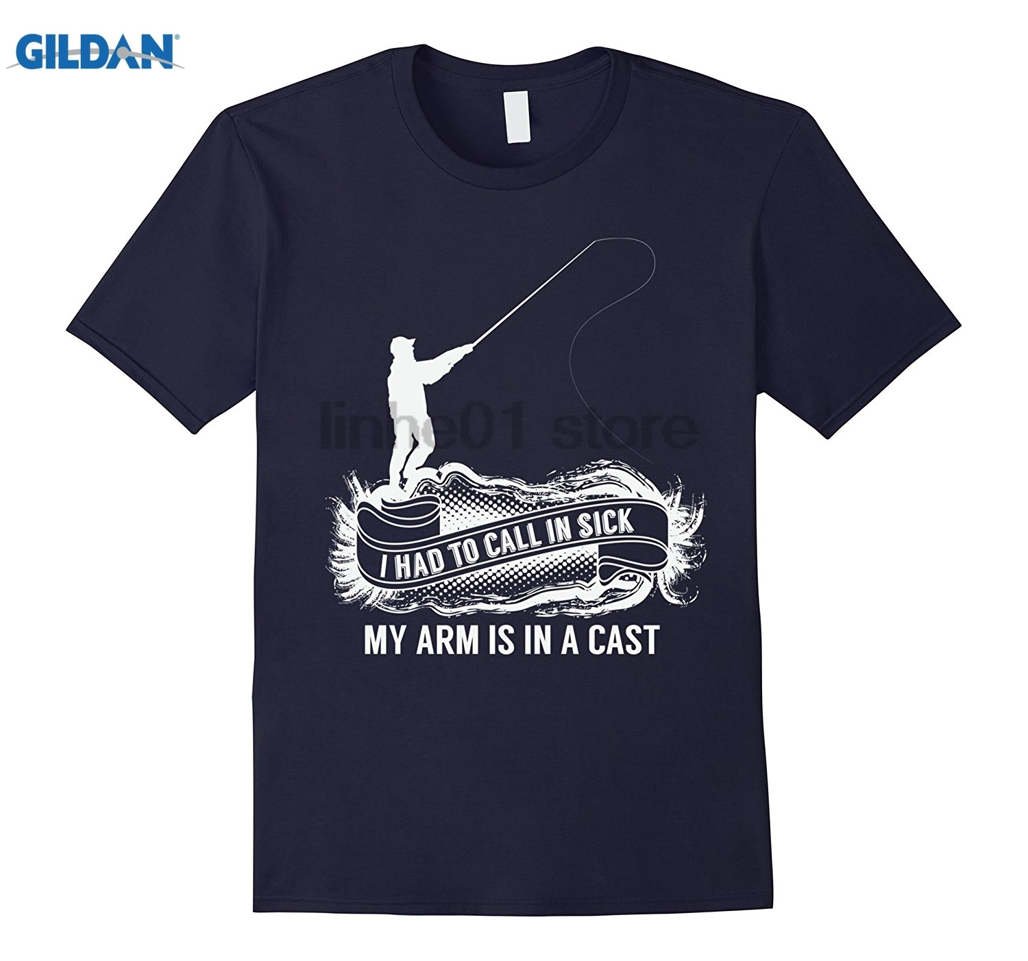 GILDAN Cool I Had To Call In Sick My Arm Is In A Cast T-Shirt Mothers Day Ms. T-shirt