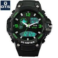 OTS Luxury Watch Men Famous Brand Sport Watch Men Waterproof LED Analog Digital Watch Men Dual