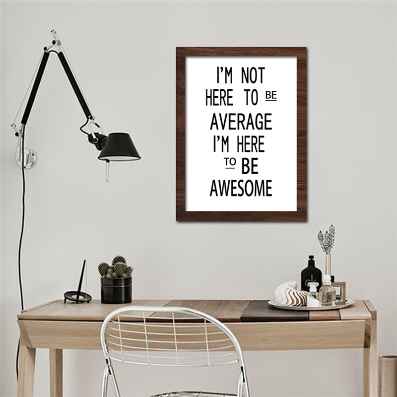 No Frame Nordic Inspiring Quote Minimalism Canvas Mural Painting Creative Wall Art Drawing Pretty Living Room Bedroom Decoration In Calligraphy