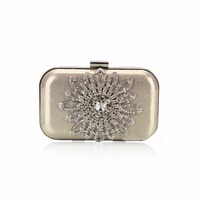 2016 New Single Side Sun Diamond Crystal Evening Bags Clutch Bag Hot Styling Day Clutches Lady