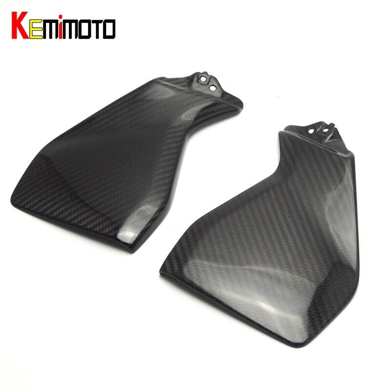 KEMiMOTO MT 09 FZ 09 Real Carbon Fiber Gas Tank Side Cover Trim Fairing For YAMAHA