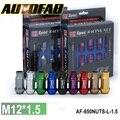 AUTOFAB-D1spec JDM Billet Aluminum Compite Con Las Tuercas P: 1.5, L: 52mm 20 unids/set AF-650NUTS-L-1.5