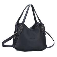 Women Genuine Leather Handbags Ladies Casual Simple Lichee Shoulder Bags Designer Handbags High Quality Purses Handbag Toe Black