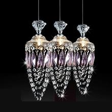Kitchen Single Pendant Light Crystal Lamp For Dining Room Led Bar Lights Study Hanging