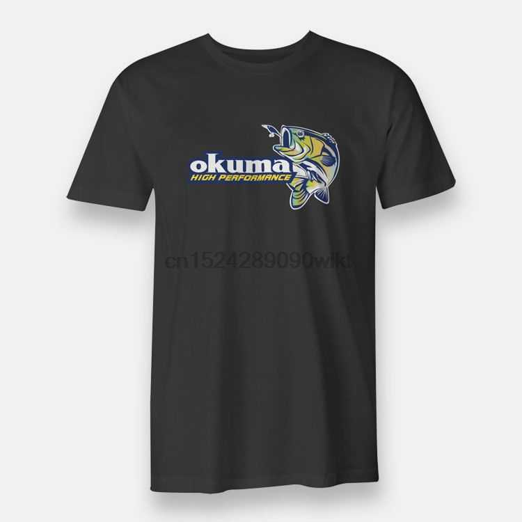 Okuma Fishing Rods Reels High Performance Mens Tees S to 3XL Black T-shirt