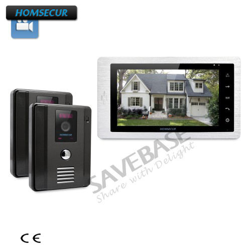 HOMSECUR 7 Video Door Entry Security Intercom + 12 Selectable Ringtones for Your Choice