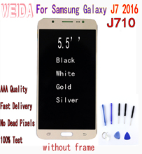 WEIDA TFT LCD For Samsung Galaxy J7 2016 Touch Screen Digitizer Assembly  without frame J710 lcd J730 J710FN J710F J710M