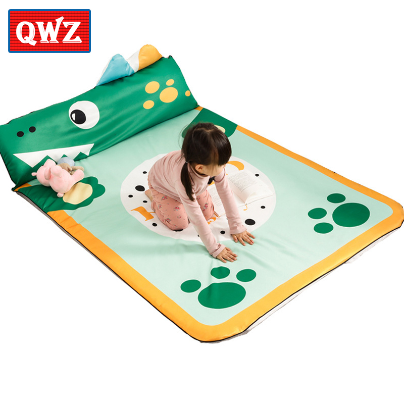 QWZ INS Style Large Bed Mat Tatami Mattress Non-slip Super Soft Baby Play Mat Crawling Mat Cartoon Animals Kids Toy Child Gifts bookcase super soft non slip bath door mat machine washable quickly drying
