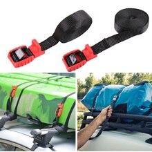1 para 4.5M samochodowy bagażnik dachowy paski zabezpieczające liny na zewnątrz Camping kajaki kajaki deska surfingowa aluminiowa klamra cynku