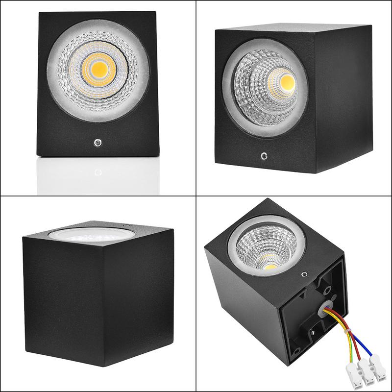 GU10 Wall Mounted LED Light Black Led Wall Lamp Outdoor ...