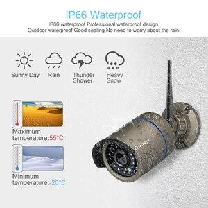 """Image 4 - Techage 8CH 1080P Беспроводная система охранной камеры 12 """"ЖК монитор Wifi NVR наружная Аудио CCTV камера P2P комплект видеонаблюдения"""