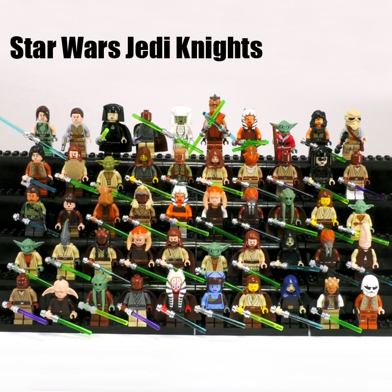 NEW Star Wars Jedi Knight Yoda Luke Han Solo Clone Obi-Wan Luminara Unduli Skywalker Compatible Brick Block Kid Toy