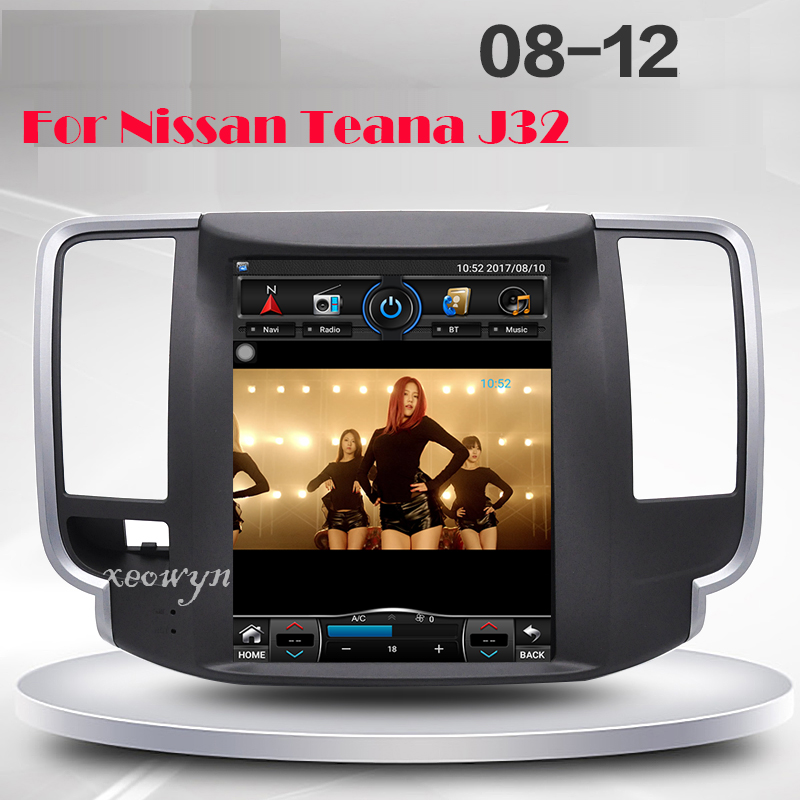 Vertical screen Quad core RAM2GB 10.1 inch Car GPS Navigation for Nissan teana J32 2008-2012 wifi internet bluetooth rear camera