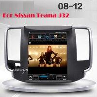 Vertical screen Quad core RAM2GB 10.1 inch Car GPS Navigation for Nissan teana J32 2008 2012 wifi internet bluetooth rear camera