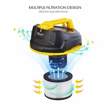 химчистка мешков   Dibea DU100 US ручной пылесос баррель типа мокрого/сухого пылесоса Чистящая машина ручной пылесборник для дома