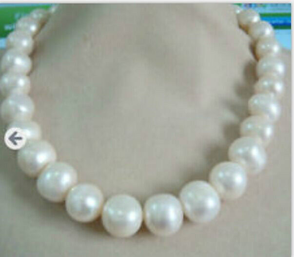 huge12- 11-12mmnatural freshwater white pearl necklace19inch 925silverhuge12- 11-12mmnatural freshwater white pearl necklace19inch 925silver