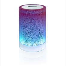 Bluetooth Speaker Bass Portable Wireless Speakers Smart Touch LED Atmosphere Lamp With TF Card Radio Fm Bluetooth Subwoofer