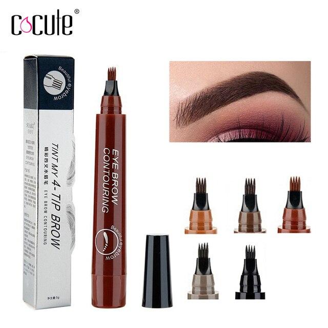 Professional Makeup Set Eyebrow Pencil Waterproof Long lasting Eyebrow Pen 4 Shapes Eyebrows Stencils Painting Eyebrow TintTool 1
