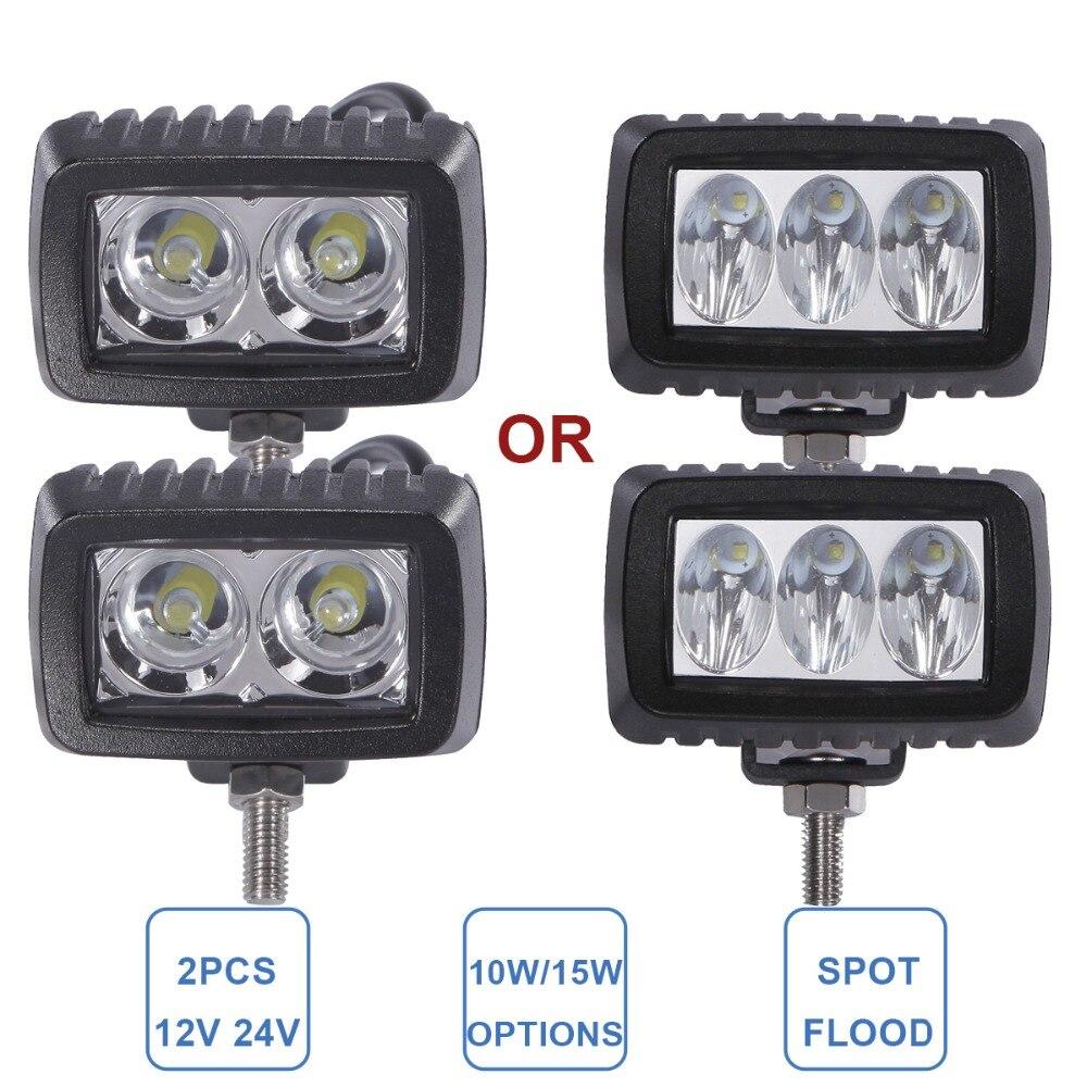 Offroad 10 watt 15 watt LED Arbeit Licht Fahren Nebel Scheinwerfer 12 v 24 v ATV Motorrad SUV Fahrrad Boot 4X4 4WD Lkw Auto Auto Camper Lampe