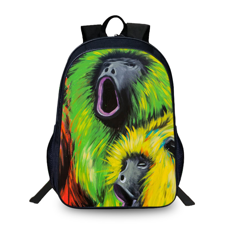43d1a72199 BAOBEIKU Cartoon Doodle 3D Backpack Women Men Travel Bags Creative Fashion Animals  Pattern For Teenager Girls Boys School Bag-in Backpacks from Luggage ...