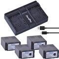 Аккумулятор для камеры 4x 6000ач VW-VBG6 VW VBG6 + USB двойное зарядное устройство для PANASONIC AG-HMC71 HMC73 HMC150 HPX250 AC160MC AG-HMC155GK