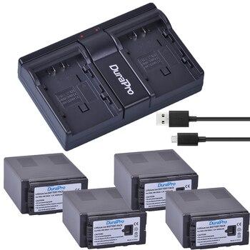 4x 6000Ah VW-VBG6 VW VBG6 Camera Battery + USB Dual Charger for PANASONIC AG-HMC71 HMC73 HMC150 HPX250 AC160MC AG-HMC155GK